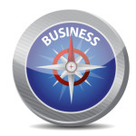 Guide to great business. compass illustration